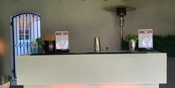 Cocktailbar bei einem mobilen Cocktailservice in München